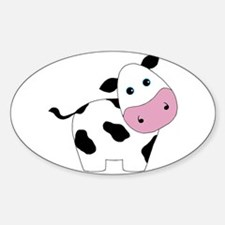 Cute Black and White Cow Decal