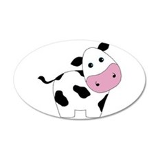Cute Black and White Cow Wall Decal