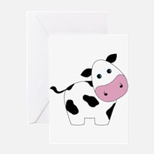 Cute Black and White Cow Greeting Cards