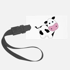 Cute Black and White Cow Luggage Tag