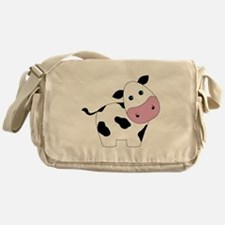 Cute Black and White Cow Messenger Bag