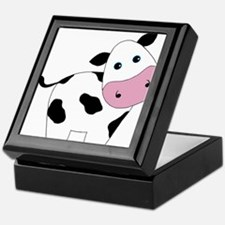 Cute Black and White Cow Keepsake Box
