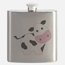 Cute Black and White Cow Flask