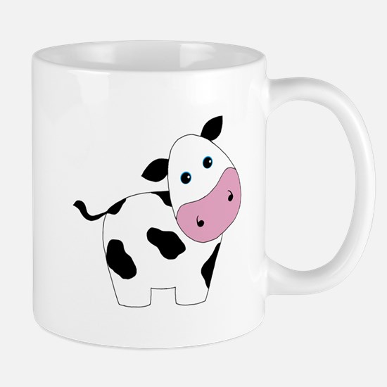 Cute Black and White Cow Mugs