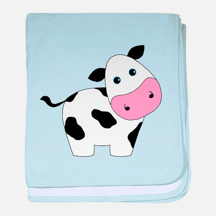 Cute Black and White Cow baby blanket