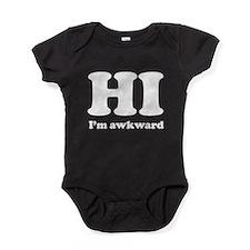 HI I'm awkward Baby Bodysuit