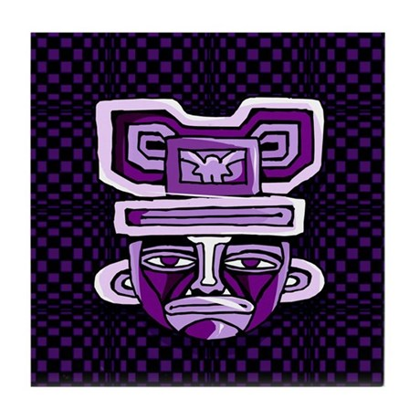Purple Mask Tile Coaster