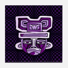 Purple Mask Tile Coaster