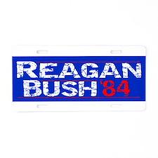 Reagan 84 - distressed Aluminum License Plate