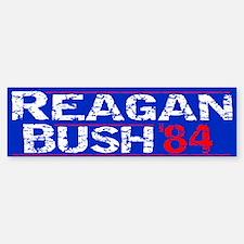 Reagan 84 - distressed Bumper Bumper Bumper Sticker