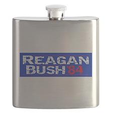Reagan 84 - distressed Flask