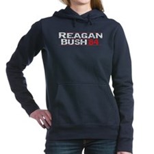 Reagan 84 - Distressed Women's Hooded Sweatshirt