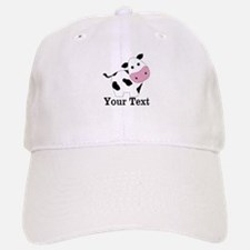 Personalizable Black White Cow Baseball Baseball Baseball Cap