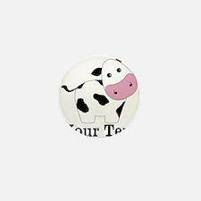 Personalizable Black White Cow Mini Button (100 pa