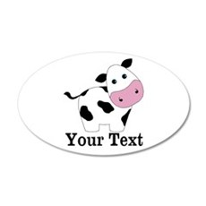 Personalizable Black White Cow Wall Decal