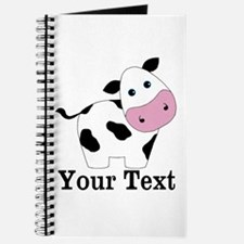 Personalizable Black White Cow Journal