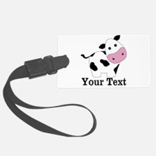 Personalizable Black White Cow Luggage Tag