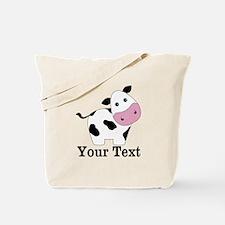 Personalizable Black White Cow Tote Bag
