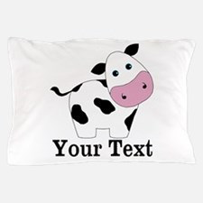 Personalizable Black White Cow Pillow Case