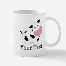 Personalizable Black White Cow Mugs