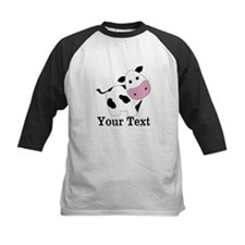 Personalizable Black White Cow Baseball Jersey