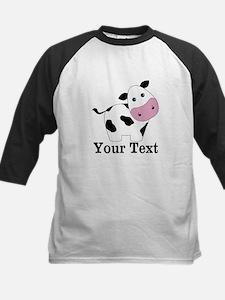 Personalizable Black White Cow Baseball Jersey