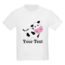 Personalizable Black White Cow T-Shirt