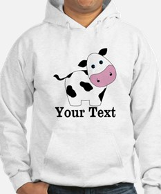 Personalizable Black White Cow Hoodie