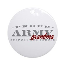 Proud Army Grandma (red) Ornament (Round)