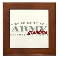 Proud Army Grandma (red) Framed Tile