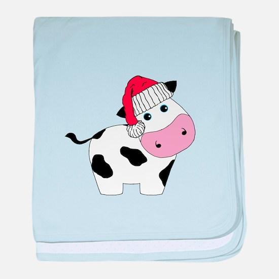 Christmas Cow baby blanket
