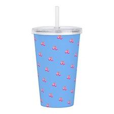 Blue Floral Dainty Impression Designer Acrylic Dou