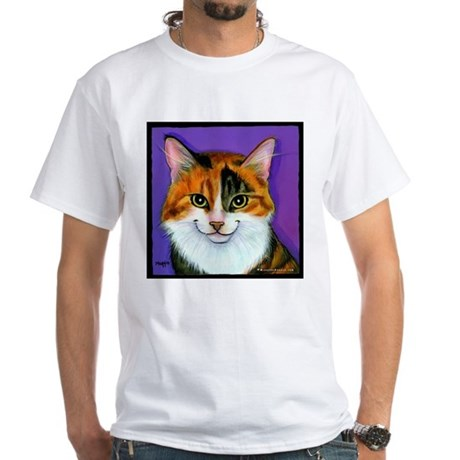 Calico Cat White T-Shirt