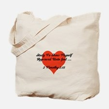Study To Show Thyself Approved-Heart Tote Bag