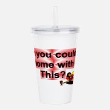 Cute Could Acrylic Double-wall Tumbler