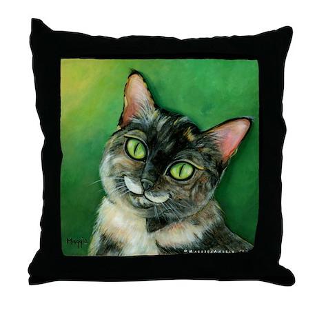 Tortoise Shell Cat Throw Pillow