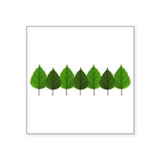 Happy Little Green Tree Leaf Forest Sticker