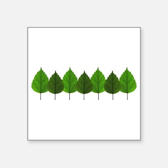 Happy Little Green Tree Leaf Forest Sticker