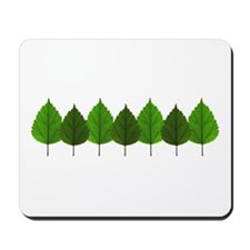 Happy Little Green Tree Leaf Forest Mousepad