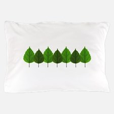 Happy Little Green Tree Leaf Forest Pillow Case