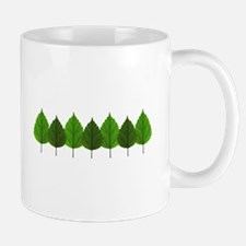 Happy Little Green Tree Leaf Forest Mugs