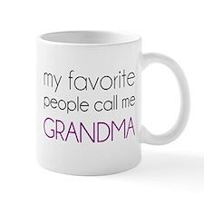 My Favorite People Call Me Grandma Mugs