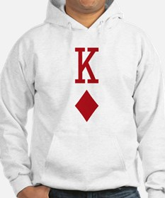 King of Diamonds Red Playing Card Hoodie