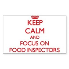 Keep Calm and focus on Food Inspectors Decal