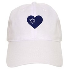 Blue Hart with Magen David Baseball Baseball Cap