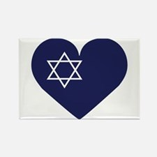 Blue Hart with Magen David Magnets