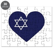 Blue Hart with Magen David Puzzle