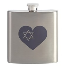 Blue Hart with Magen David Flask