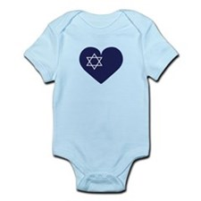 Blue Hart with Magen David Body Suit