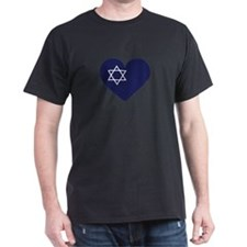 Blue Hart with Magen David T-Shirt